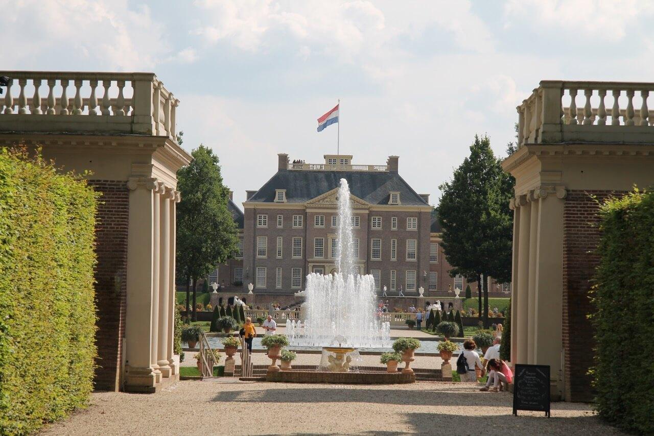 zicht op fontein
