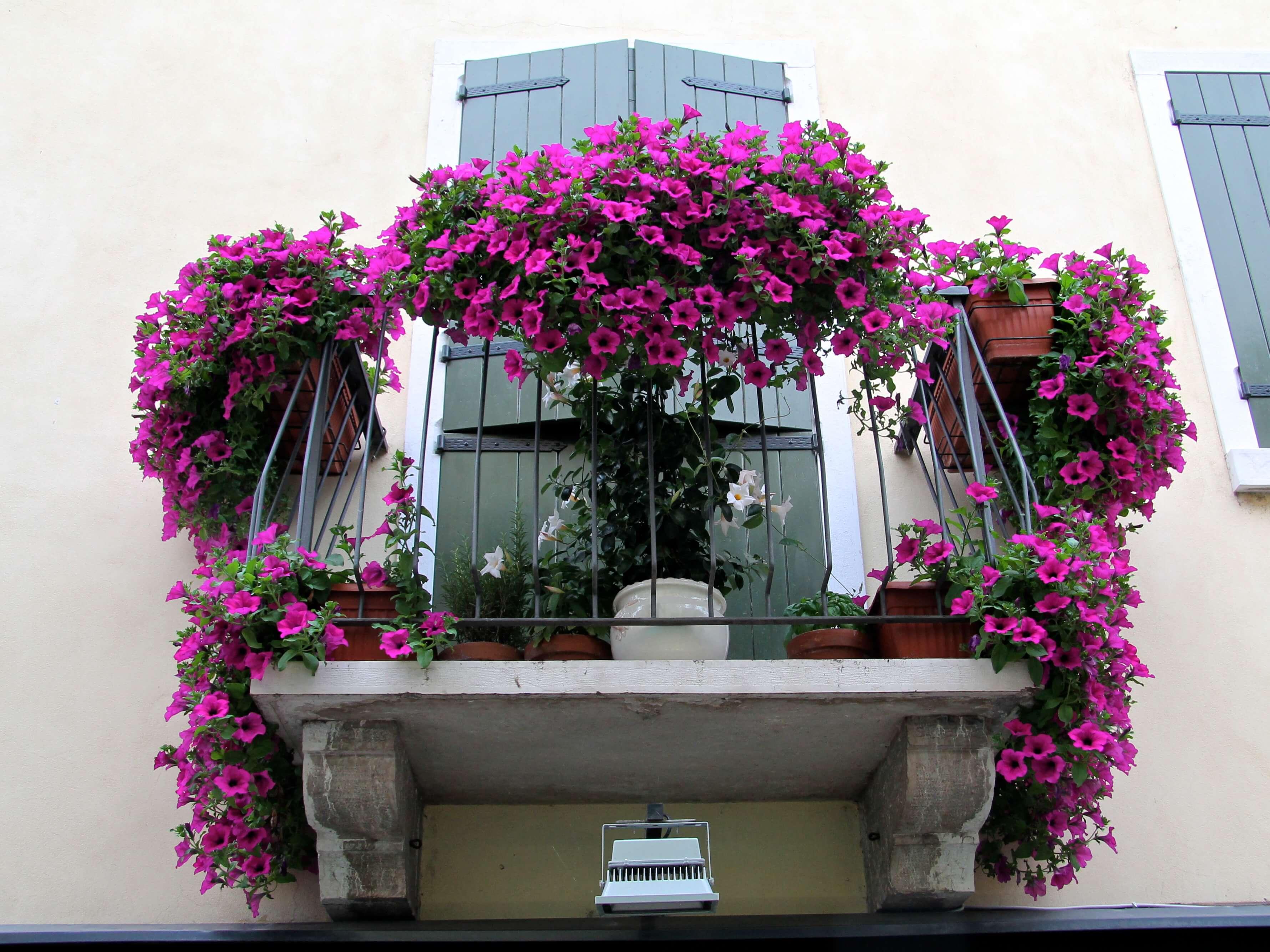 Balkon in Italie