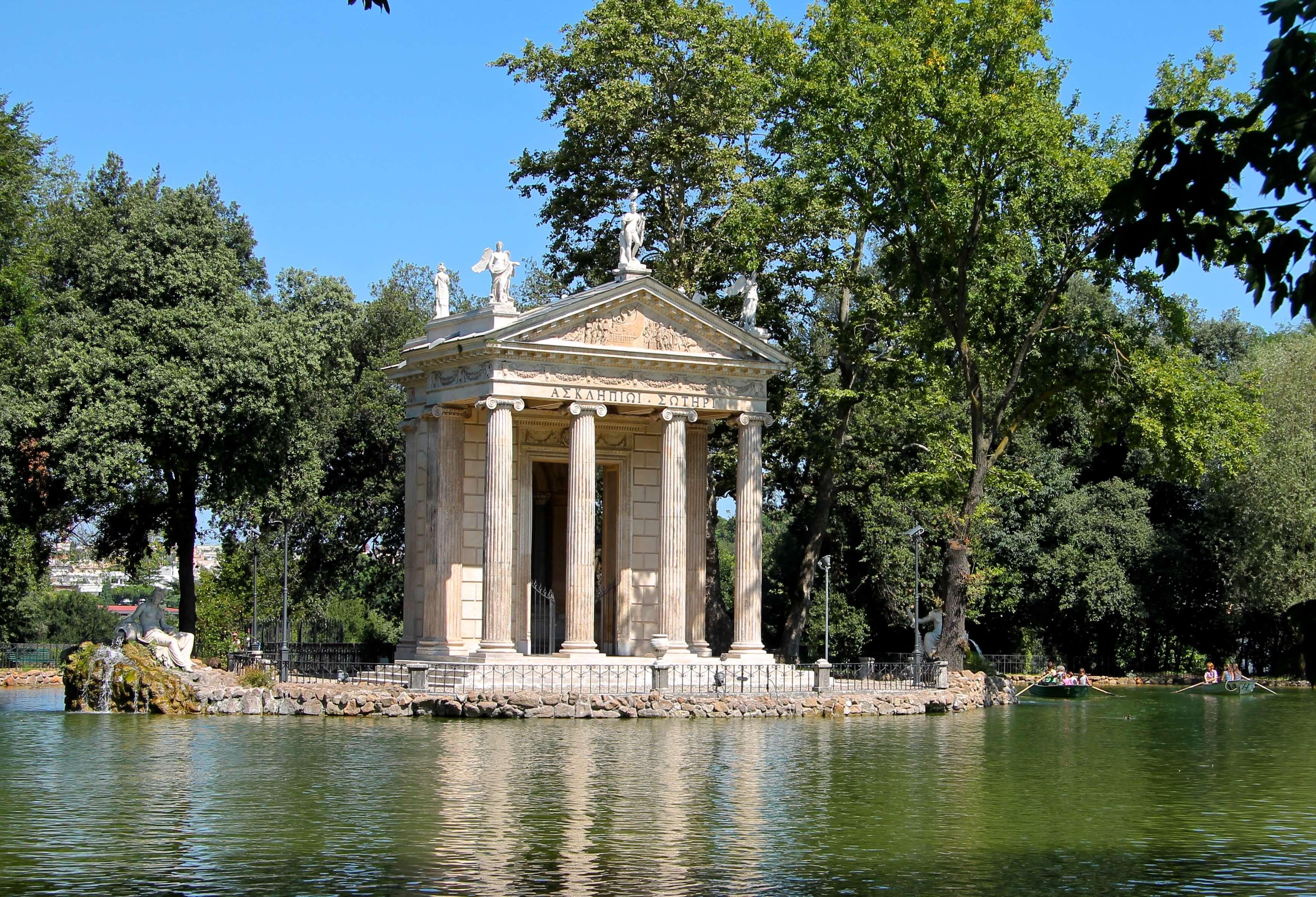 roeivijver villa Borghese